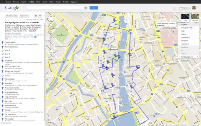 google térkép útvonalterv Webadatbázis programozás google térkép útvonalterv